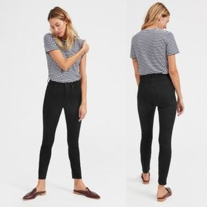 NWT EVERLANE Black Denim High Rise Skinny Jeans